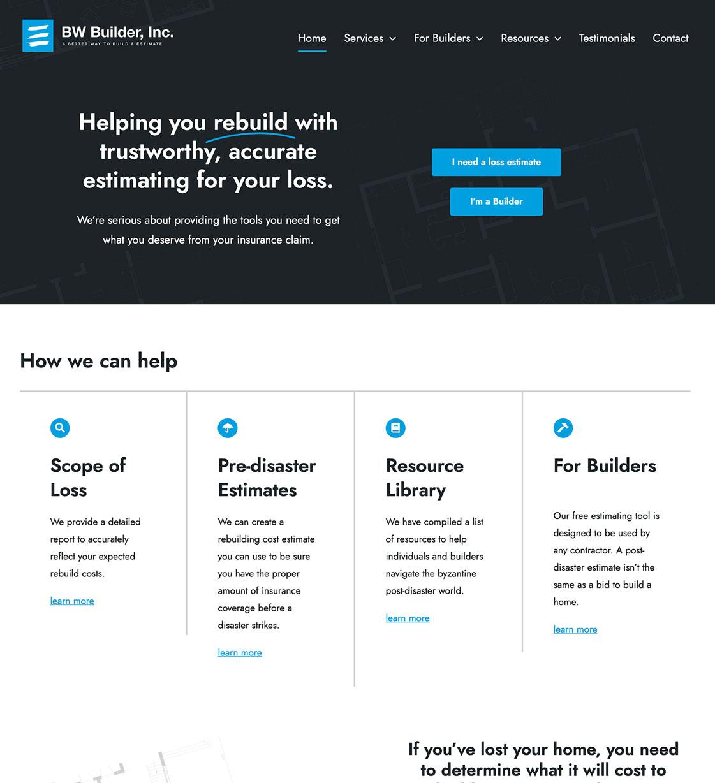 BW Builder Website