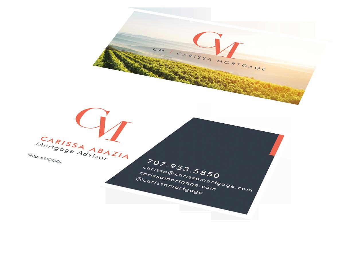 Carissa Mortgage business card