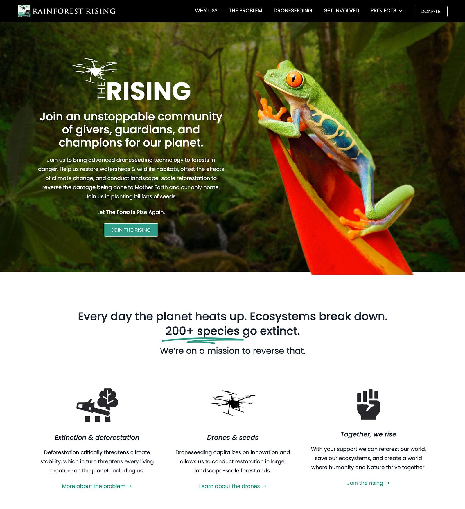 Rainforest Rising Website