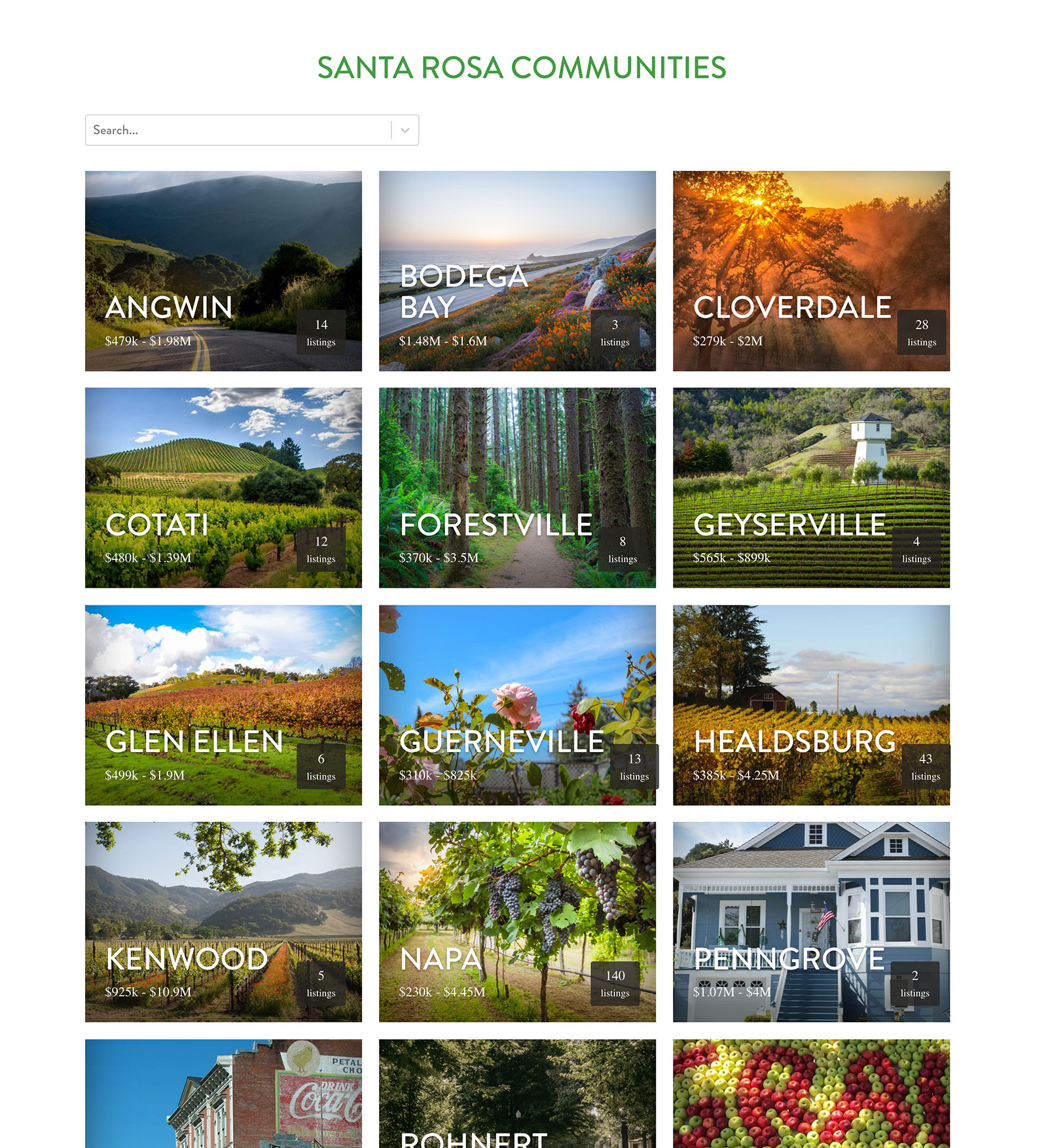 Wine Country Group Website